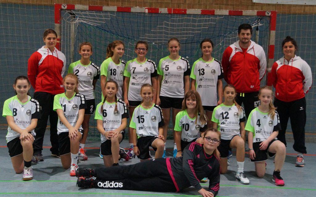 Mannschaftsfoto HSG Moskitos Jugend D1 weiblich